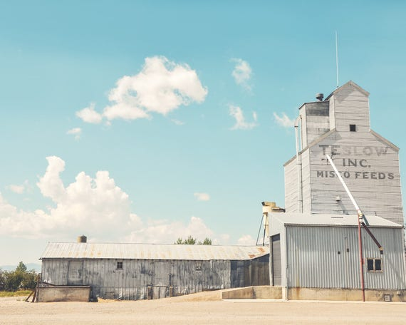 """Teslow Grain Elevator"" - fine art photography"