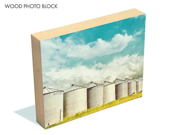 """""""All in a Row"""" - wood photo block"""
