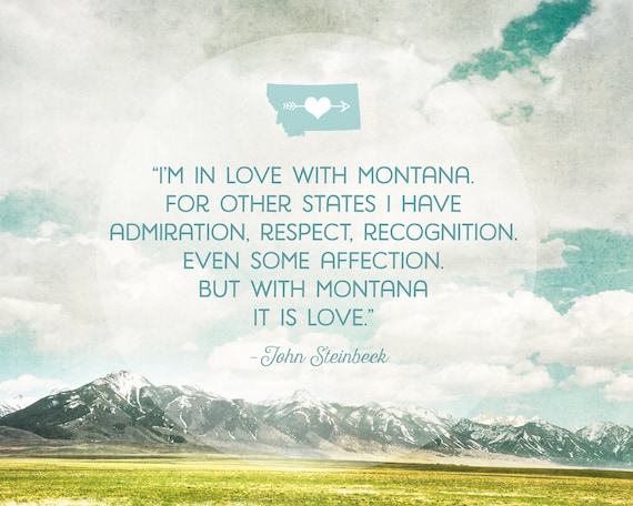 """In Love with Montana"" - quote wall art"