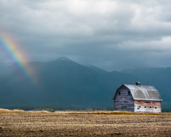 """Mission Mountain Barn"" - landscape photography"