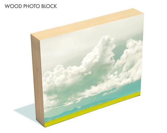 """Atmospheric Pressure"" - wood photo block"