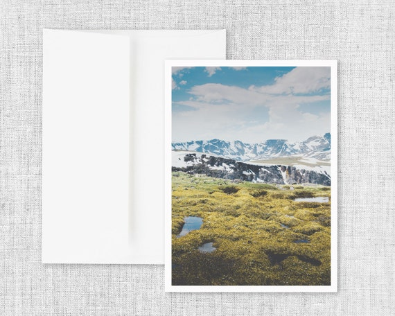 """Alpine Marshes"" - greeting card"