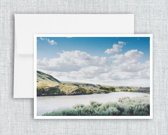 A Bend in the Yellowstone - greeting card
