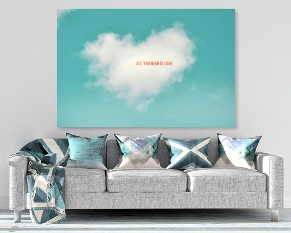 """""""All You Need is Love"""" - photo on canvas"""