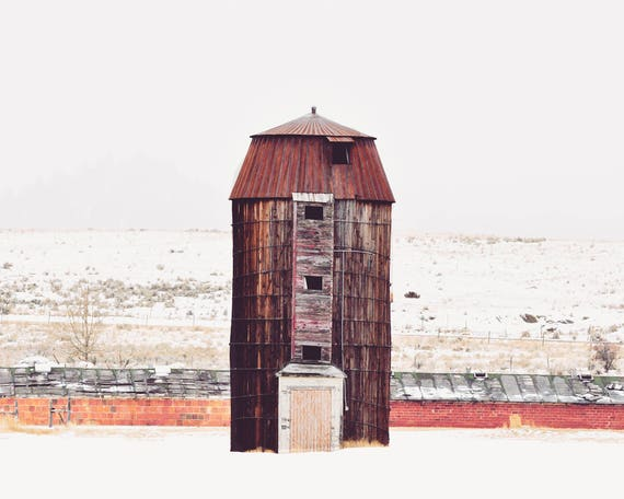 """Snowy Day Silo"" - landscape photography"