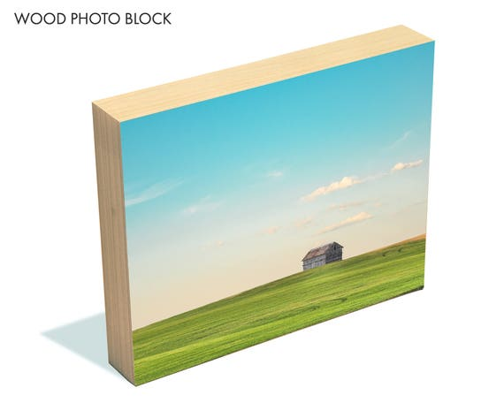 """A Country Kind of Life"" - wood photo block"
