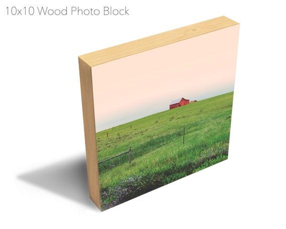10x10 Wood Photo Block