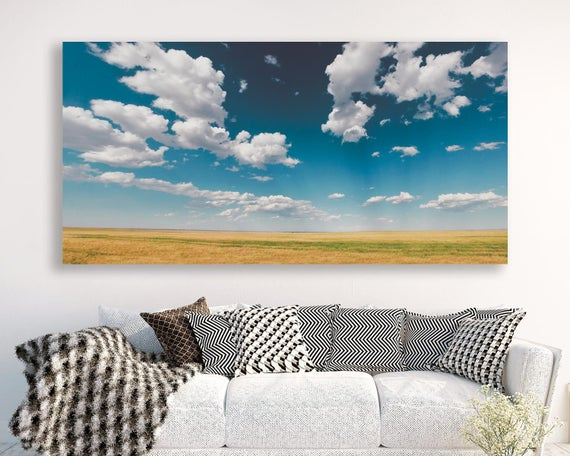 "large colorful landscape, large canvas wall art, large landscape wall art, landscape on canvas, prints - ""Heaven is a Field on a Summer Day"""