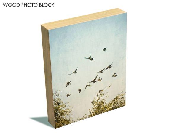 """A Feeling of Change"" - wood photo block"