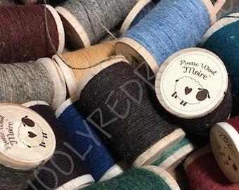 Moire Rustic Wool Thread ~ colors #100 thru #557