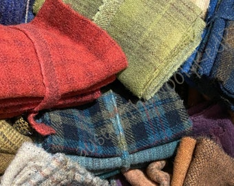 Wool ~ 1/4 yard Color Plan Packs ~ Hook ~ Stitch ~ Quilt