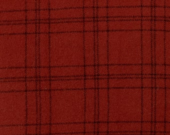 Red Velvet ~  Wool Fabric for Rug Hooking, Applique, Quilting and more