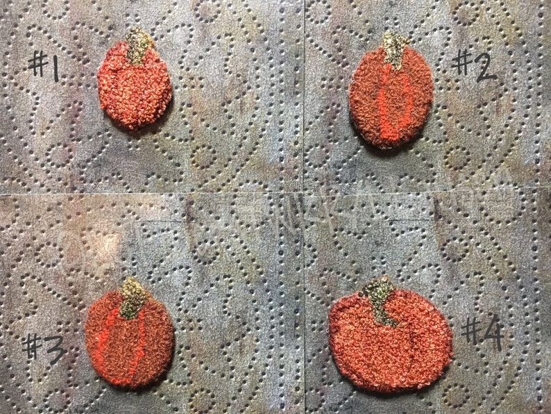 Pumpkin Needle Punched Pins image 0