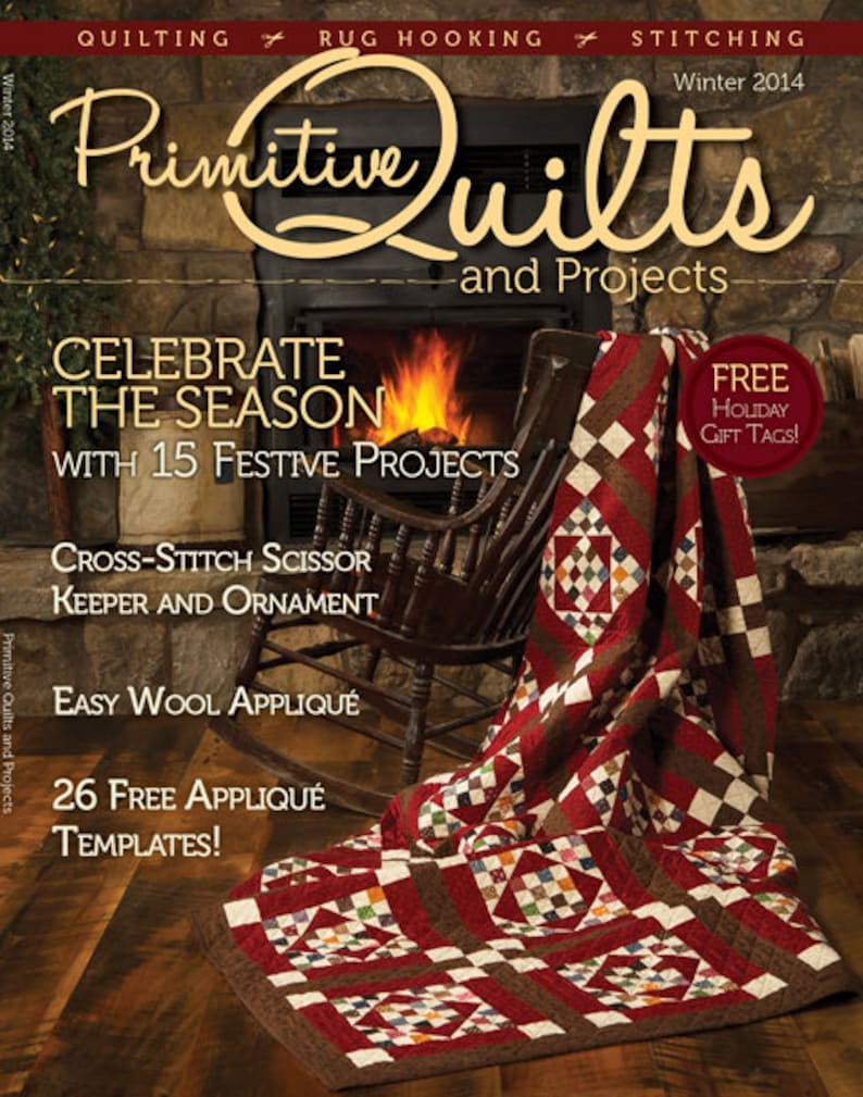 Primitive Quilts and Projects Magazine 2014  2013 Back Issues image 0