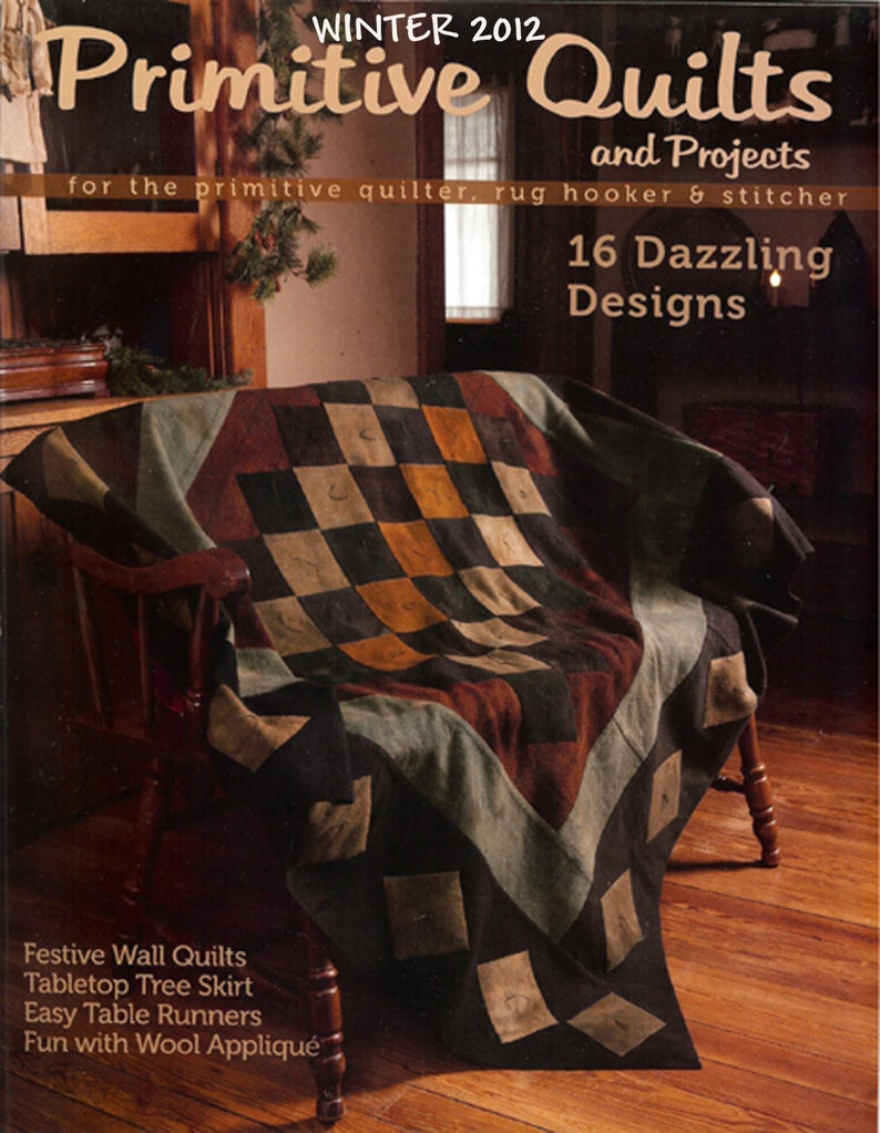 Primitive Quilts and Projects Magazine 2012  2011 Back Issues image 0