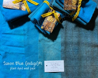 Saxon Blue ~ Naturally – Hand – Plant Dyed Wool Pack