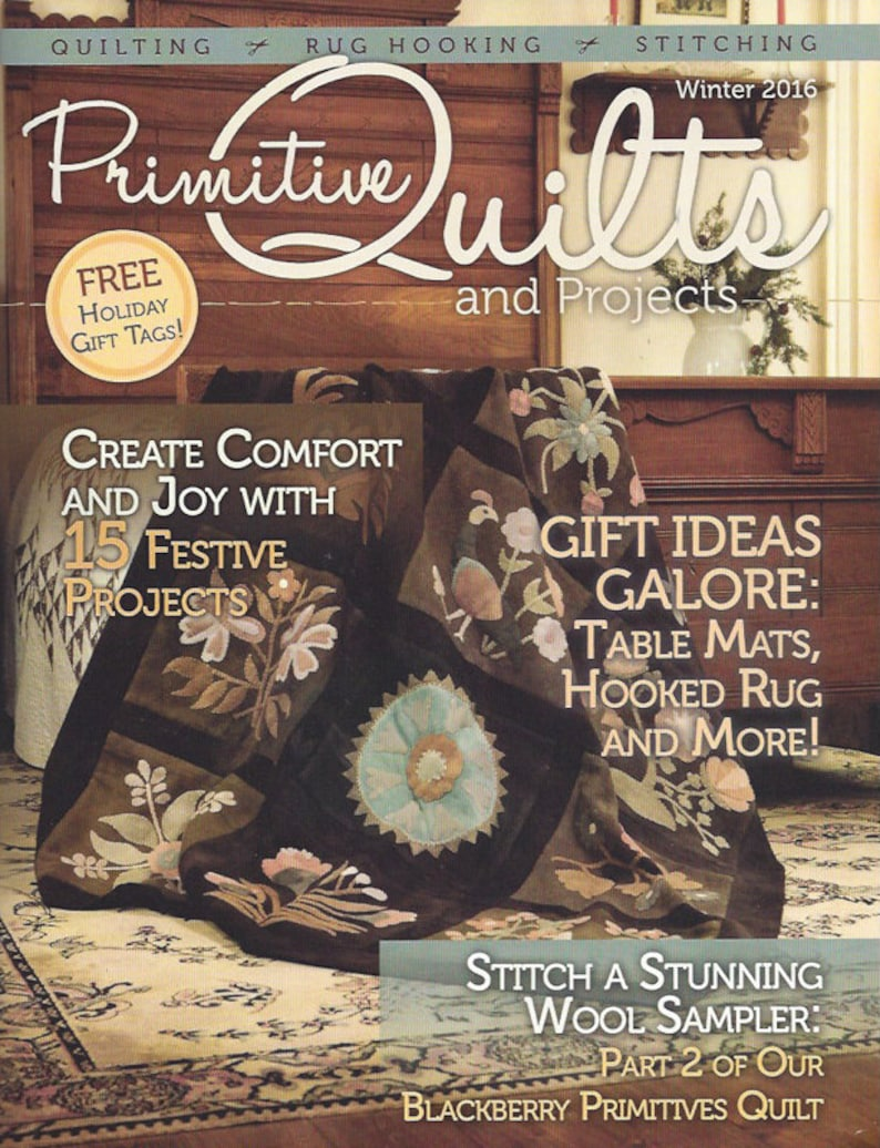 Primitive Quilts and Projects Magazine 2016  2015 Back Issues image 0