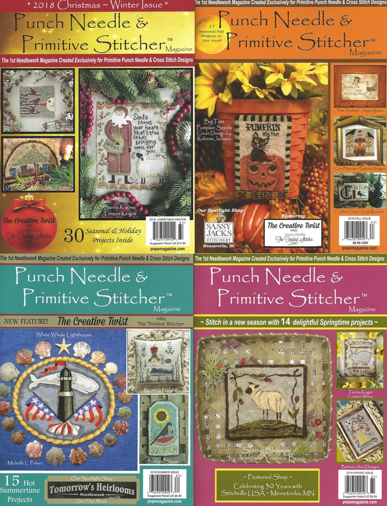 Punch Needle and Primitive Stitcher Magazine  Back Issues image 0