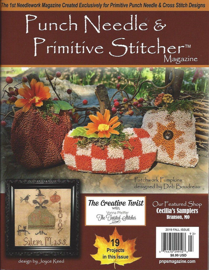 Punch Needle and Primitive Stitcher Magazine  Fall 2019 and image 0