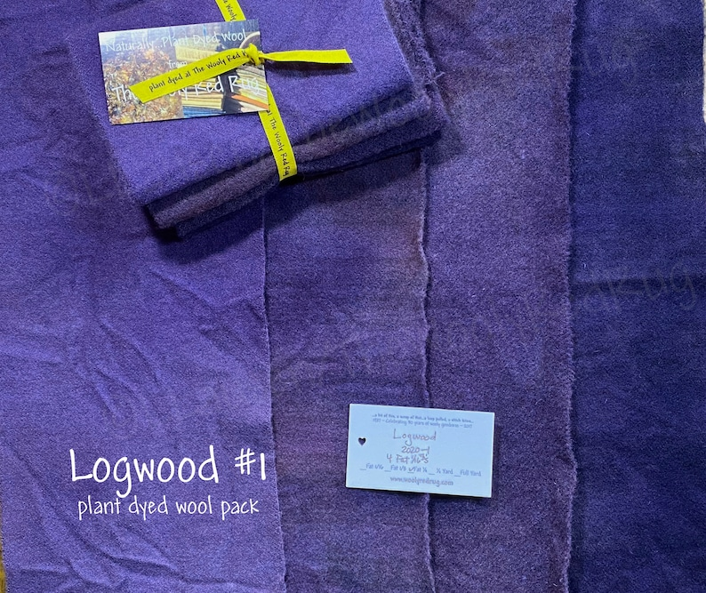 Logwood  Naturally  Hand  Plant Dyed Wool Pack image 0