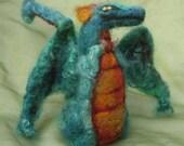 Waldorf inspired needle felted dragon