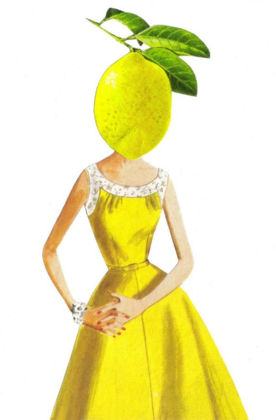 Original,Art,Collage,,Surreal,Lemon,Artwork,Original Art Collage, Surreal Lemon Artwork