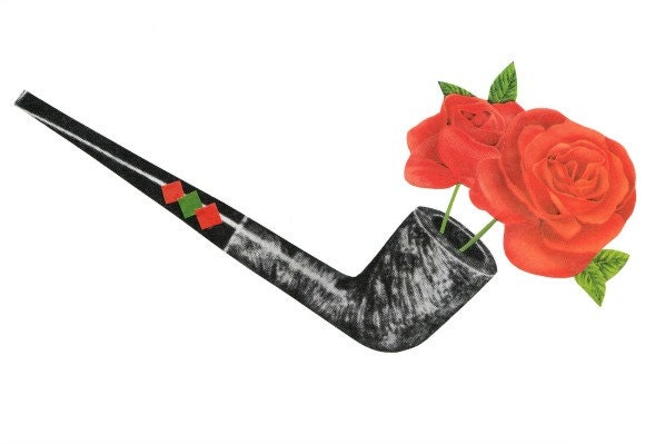 Original,Collage,Art,,Flower,Pipe,Artwork,Original Collage Art, Flower Pipe Artwork
