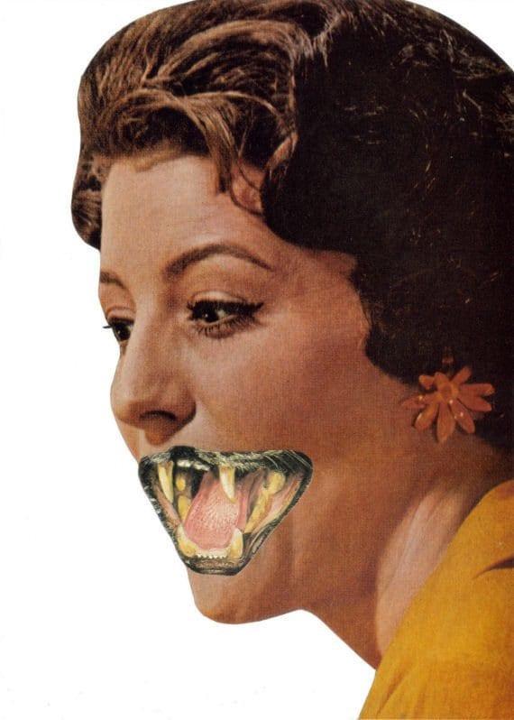 Original,Collage,Art,,Crazy,Cat,Lady,,Weird,Artwork,Original Collage Art, Crazy Cat Lady, Weird Artwork