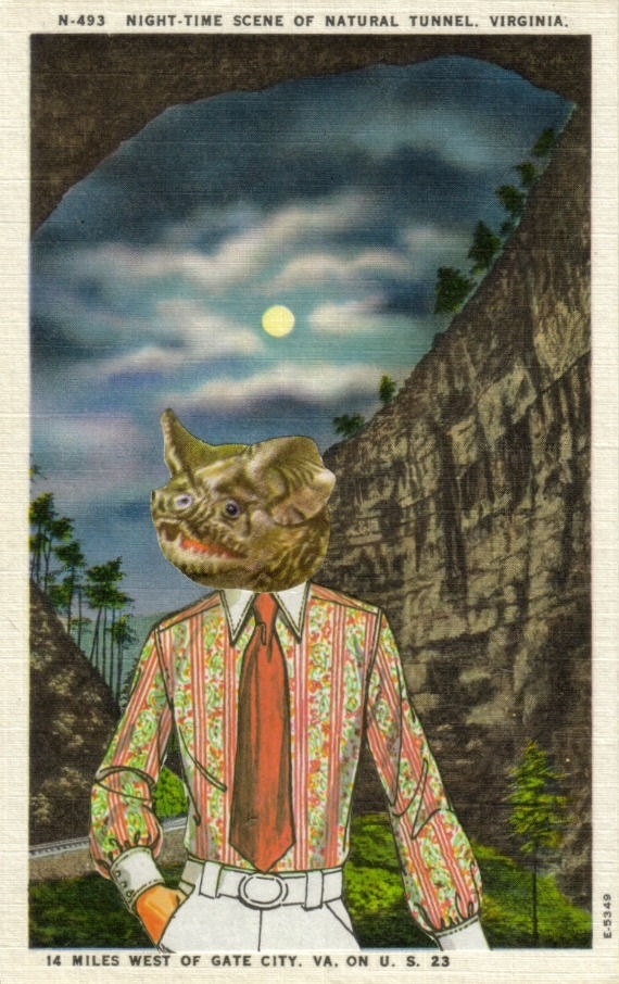 Original,Collage,Art,,Hipster,Bat,Man,,Animal,Artwork,Original Collage Art, Hipster Bat Man, Animal Artwork