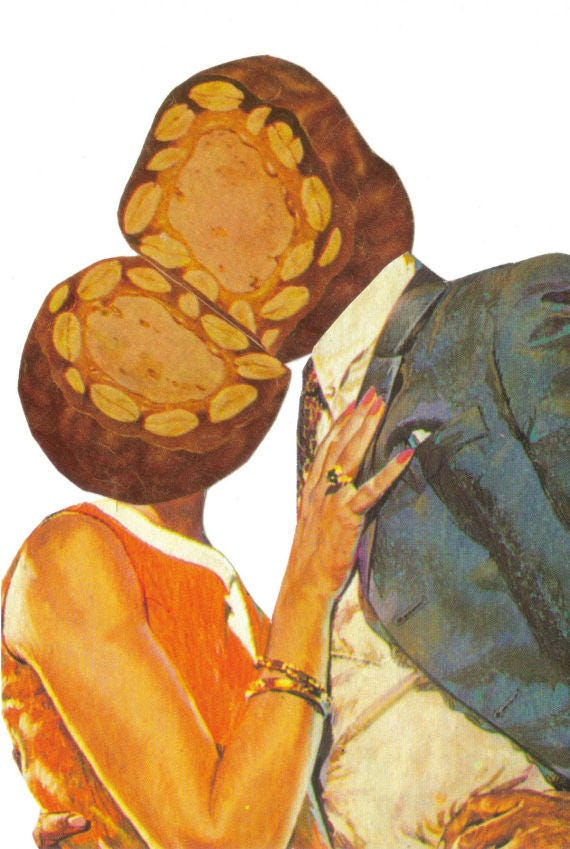 Original,Collage,Art,,Candy,Kiss,Artwork,Original Collage Art, Candy Kiss Artwork