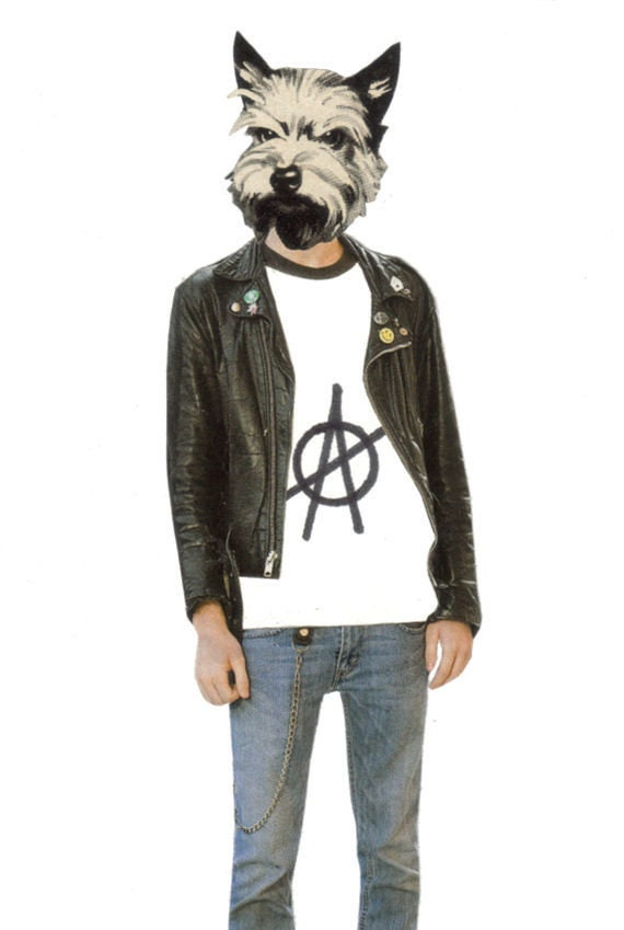 Original,Collage,Art,,Anarchy,Punk,Artwork,,Dog,Gone,Bad,Original Collage Art, Anarchy Punk Artwork, Dog Gone Bad
