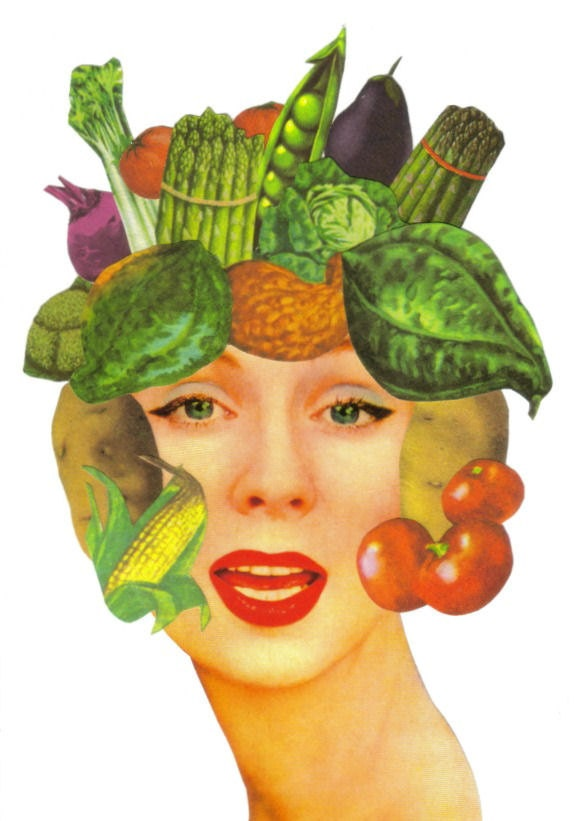 Original,Collage,Art,,Vegetable,Artwork,,Veggie,Decor,Original Collage Art, Vegetable Artwork, Veggie Decor