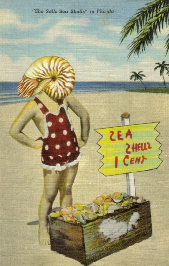 Original,Collage,Art,,Florida,Beach,Artwork,Original Collage Art, Florida Beach Artwork
