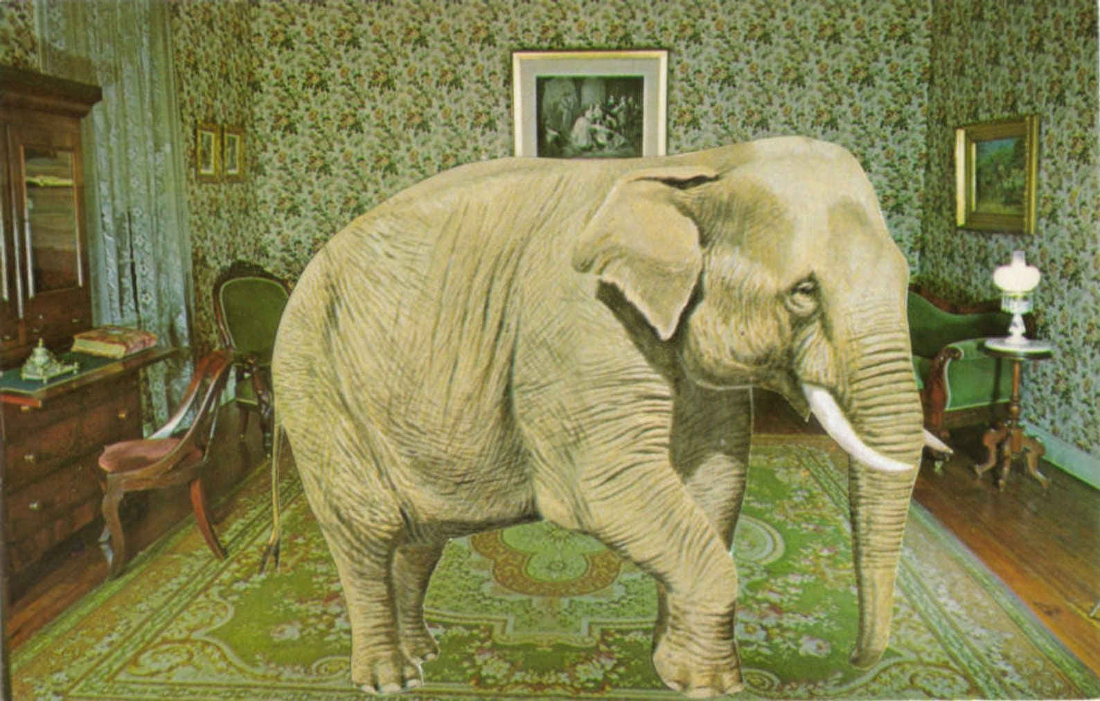 Original,Collage,Art,,Elephant,Artwork,Original Collage Art, Elephant Artwork