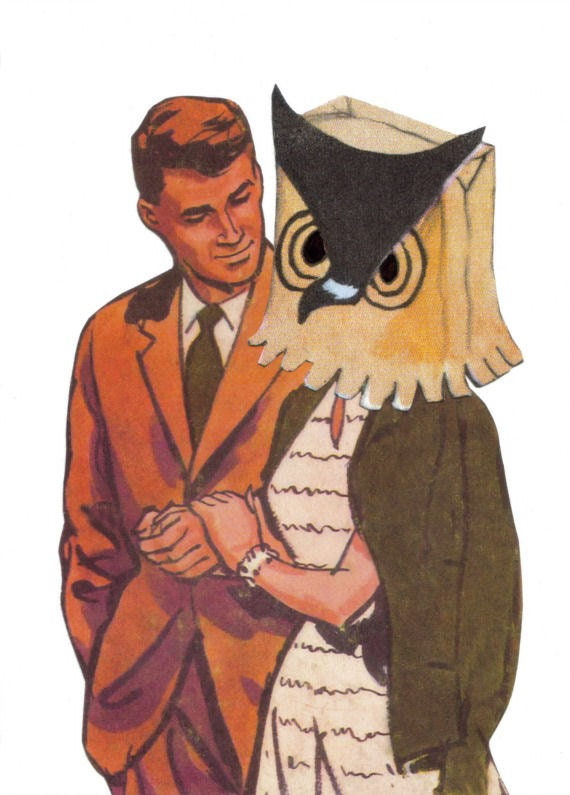 Original,Collage,Art,,Whooo,Loves,You,,Owl,Artwork,Original Collage Art, Whooo Loves You, Owl Artwork