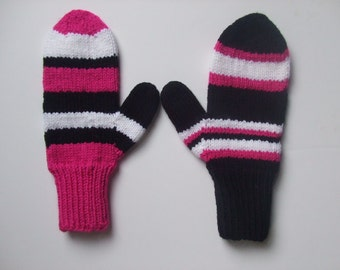 Hand Knit Mittens - Dare to be Different - Don't Match - Mix Em Up