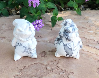 Oogie Boogie Crystal Carving, Howlite Carving, Nightmare Before Christmas, Mineral Specimen, Crystal Sculpture, Your Choice, Spooky