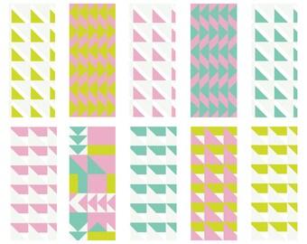 Geo Pop - Seamless Pattern Digital Download Prints - Set of 10 Paper Pack - jpeg files