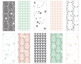 Antler Stars - Seamless Pattern Digital Download Prints - Set of 10 Paper Pack - jpeg files