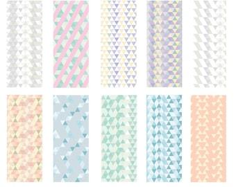 Geo Tones - Seamless Pattern Digital Download Prints - Set of 10 Paper Pack - jpeg files