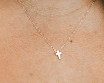 All Things are Possible Cross Necklace For Moms |  Dainty Sterling Silver Charm Jewelry For Wife | Religious, Faith, Christianity Necklace