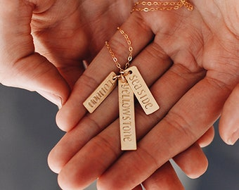 Making Memories Charm Gold Necklace