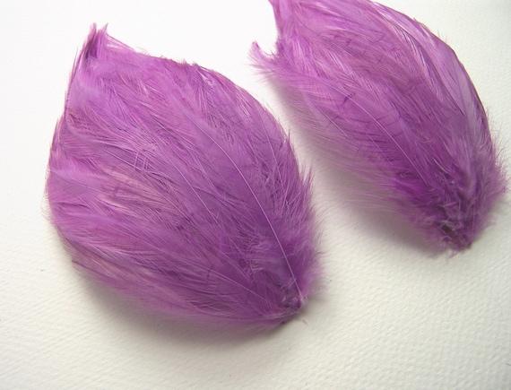 JADE GREEN New Pads; Headband//Hats//Bridal//Craft//Dress 6 Pcs HACKLE FEATHER PAD
