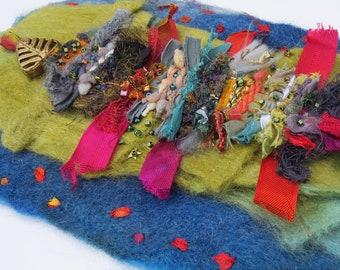 Summertime - Weaving on handmade felt