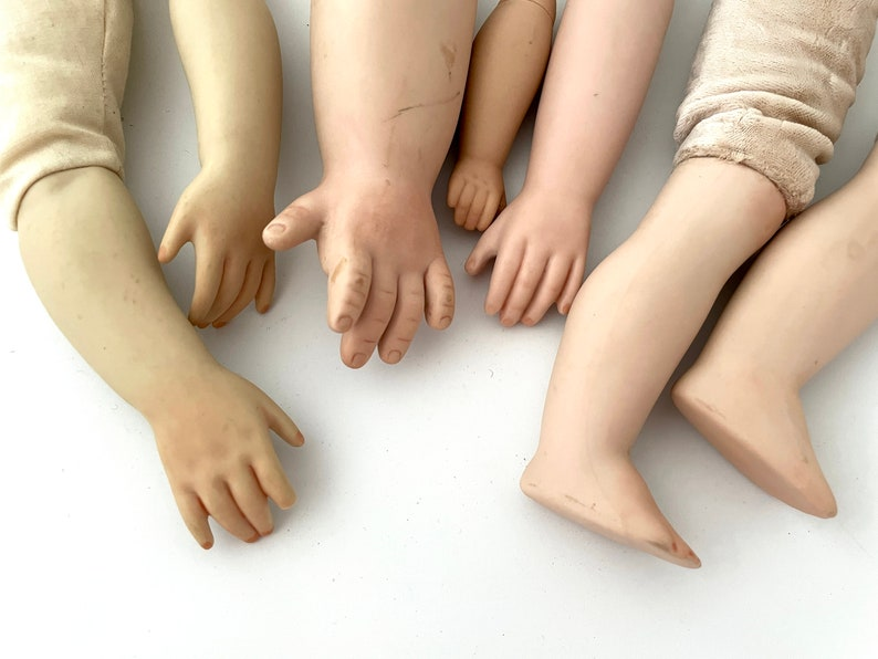 5 Arms and 2 Legs  Vintage doll parts for mixed media image 0