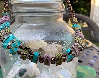 Desert Rose Carrier Bead Necklace