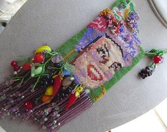 Carmen Miranda Beadwoven Amulet Bag ( beadwoven by me!)