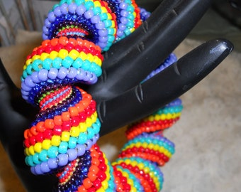 Carnival Candy Cellini Swirl Bangle Beadwoven Bracelet