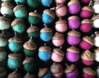 Felted Wool Acorn Magnet | Felt Acorns | Multiple Colors!
