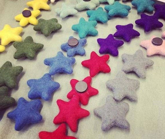 100/% Wool Felt Stars Pick /& Mix from 72 colours 100 Felted Stars